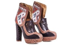Persian Carpet Inspiration high heel boots Made from natural leather Embellished with laser-cuts and engraving of oriental symbols. High Heel Boots, High Heels, Natural Leather, Cowboy Boots, Wedges, Model, Fashion Design, Collection, Shoes