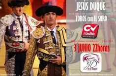 El Soro entrevista a Jesús Duque en su programa de radio.