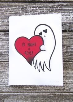 """""""I'll Haunt You Forever"""" Goth Valentine's Day Card"""