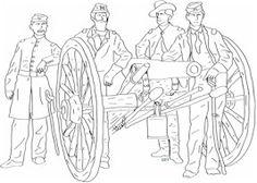 great civil war coloring sheets