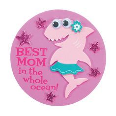 Mother's Day Shark Magnet Craft Kit Mothers Day Crafts Preschool, Diy Mother's Day Crafts, Diy Crafts For Teen Girls, Valentine Crafts For Kids, Easy Arts And Crafts, Daycare Crafts, Classroom Crafts, Mother's Day Diy, Diy For Kids