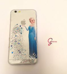 Elsa (Frozen) iPhone 6+, 6, 5s, 5c, 5, 4s, 4 phone case Sparkly Disney inspired hard resin glitter case