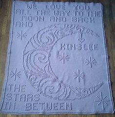 Ravelry: 130 Full size moon & back pattern by Nancy Liggins Bobble Stitch Crochet Blanket, Baby Afghan Crochet, Crochet Blanket Patterns, Crochet Yarn, Knitting Patterns, Stitch Patterns, Baby Kind, Baby Knitting, Plaid