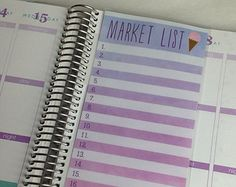Laminated Dashboard Insert for Erin Condren Life Planner, Plum Planner or Limelife Planner - Clips right into Coils!