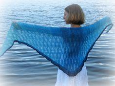 Ocean Serenade shawl knitting pattern by LismiKnits on Etsy, $4.50