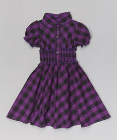 Look what I found on #zulily! Purple Plaid Smocked Dress - Toddler & Girls by Maria Elena #zulilyfinds
