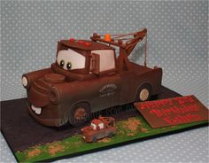 Disney cars birthday party decorations diy tow mater Ideas for 2019 Disney Cars Birthday, Cars Birthday Parties, 3rd Birthday, Birthday Ideas, Birthday Cakes, Happy Birthday, Tow Mater Cake, Cars Cake Design, Truck Cakes