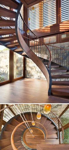 menuiserie intérieure fenêtres et escalier en colimaçon #design #interior