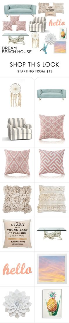 """""""Untitled #40"""" by hopfairy ❤ liked on Polyvore featuring interior, interiors, interior design, home, home decor, interior decorating, Nimbus, Pottery Barn, Surya and Pom Pom at Home"""