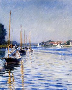 """Gustave Caillebotte - """"Boats on the Seine"""""""