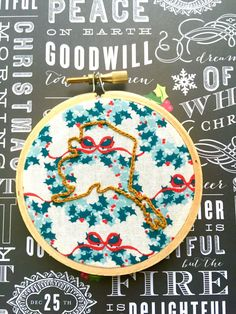 A personal favorite from my Etsy shop https://www.etsy.com/listing/478182359/state-pride-3-hand-embroidery-christmas