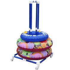 Typically, cushioning is ignored when buying a house treadmill in spite of its significance. Cushioning essentially avoids damage to ligaments, joints, and back. Without a good cushioning system, users might feel discomfort. Pool Toy Storage, Pool Float Storage, Storage Rack, Ring Storage, Patio Storage, Lego Storage, Garage Storage, Pvc Pool, Pool Decks