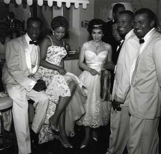Legendary Italian actress Gina Lollobrigida and the Platters including Zola Taylor in the 1950s. Photo: Galerie Verdeau.