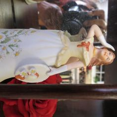 Ceramic monthly lady bell figurines. $15 ea
