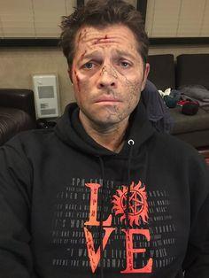 Acting + make up = a fandom aching for poor Misha! Stellar.
