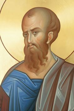 The Holy, Glorious and Illustrious Apostle Paul. Byzantine Icons, Byzantine Art, Religious Icons, Religious Art, Paul The Apostle, Orthodox Icons, Christian Art, Fantastic Beasts, Christianity