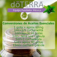 #Equivalencias #aceites_esenciales #doTERRA