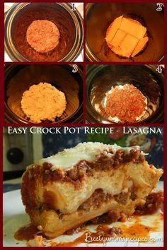 Easy crock pot recipe-lasagna