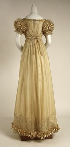 Dress Date: ca. 1820 Culture: British Medium: silk. Back