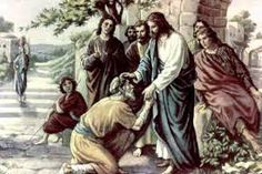 """January 8th - Luke 5:12-16: It happened that there was a man full of leprosy in one of the towns where Jesus was; and when he saw Jesus, he fell prostrate, pleaded with him, and said, """"Lord, if you wish, you can make me clean."""" Jesus stretched out his hand, touched him, and said, """"I do will it. Be made clean."""" And the leprosy left him immediately. Then he ordered him not to tell anyone, but """"Go, show yourself to the priest and offer for your cleansing what Moses prescribed."""
