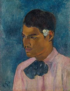 Paul Gauguin (1848-1903), Jeune homme à la fleur, oil on canvas, 17 7/8 x 13 1/4 in. (45.4 x 33.5 cm.) Painted in 1891,Tahiti.