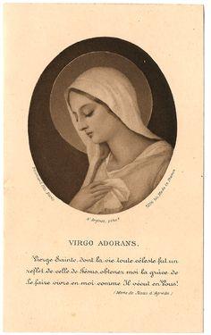 Virgin Mary Antique French & Latin Catholic Holy by 12StarsVintage