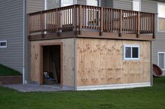 Shed Plans - Panofish Building a Shed under a Deck - Now You Can Build ANY Shed In A Weekend Even If You've Zero Woodworking Experience! Deck Building Plans, Building A Shed, Deck Plans, Shed Plans, House Plans, Building Design, Under Deck Storage, Shed Storage, Storage Spaces