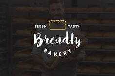 10 Bakery Shop Flat Script Logo by misterRyArt™ on @creativemarket