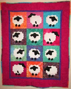 Batik Sheepzzz Baby Quilt - A Commissioned Quilt