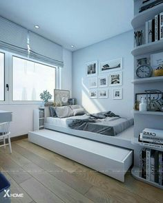 Home Ideas Technology Phones Smart Home Office Under Stairs Small House Interior Design, Home Room Design, Small Bedroom Designs, Small Room Bedroom, Home Design Decor, Bedroom Decor, House Design, Home Decor, H Design