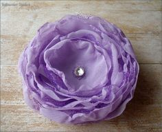 Wedding Hair Flower Purple/Lavender Chiffon RainwaterStudios  $18.00