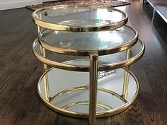 Brass Mid-Century Modern Coffee Table Mid-Century Modernism Style Antiques for sale Lucite Coffee Tables, Modern Coffee Tables, Walnut Dining Table, Glass Dining Table, Table Maker, Swivel Dining Chairs, Glass Top Side Table, Living Room Table Sets, Mid Century Coffee Table