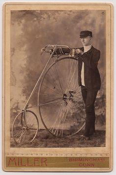 Portrait of Gentleman with Bicycle, 1880s