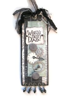 """Dawn Rene created a matching bookmarker from the Authentique """"Renew"""" Collection available from Scraptownlady.com"""