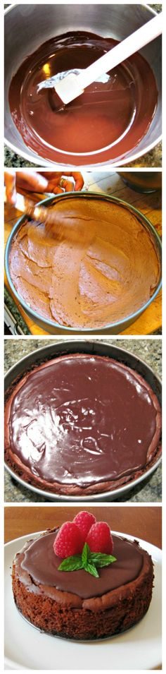 What could possibly make #chocolate more fabulous than it already is? Decadent #ChocolateCheesecake !