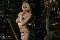 Sapphire Ng | Tribal Pattern Bikini Shoot. Photo by Joe Harary, Makeup by Variant Shades Makeup.