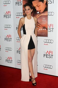 Only Miss Dior Marion Cotillard Could Pull Off This Dress at the 'Rust and Bone' premiere, wearing Dior.
