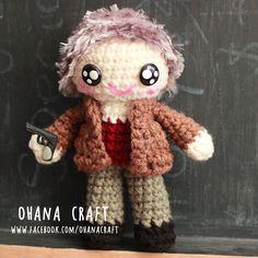 Carol Peletier from The Walking Dead inspired crochet doll www.facebook.com/OhanaCraft