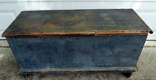 blue antique primitive box