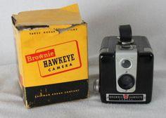 Kodak Brownie Hawkeye Camera in original box One owner