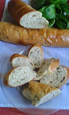 This no all / Disznóól - KonyhaMalacka disznóságai: Medvehagymás bagett Bread, Recipes, Food, Meal, Food Recipes, Essen, Rezepte, Hoods, Breads