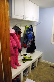 Laundry Room Converted to Mud Room Photo