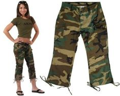 These Woodland Camouflage Military Womens Capri Pants were seen by me on other internet sites.