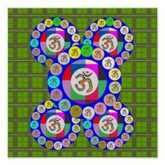 OMmantra Meditation Mandala Posters