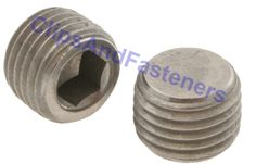 M8 - 1.0 Hexagon Socket Pipe Plugs Steel DIN 906