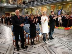 Members of the Norwegian Royal Family attended the official ceremony for the 2014 Nobel Peace Prize. 10/12/2014