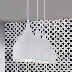 Contemporary Pendant with White Shade (3 Light) – LightSuperDeal.com