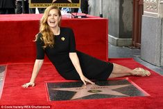 Amy Adams in Giorgio Armani dress and Christian Louboutin heels is honored with a star on the Hollywood walk of fame (6)