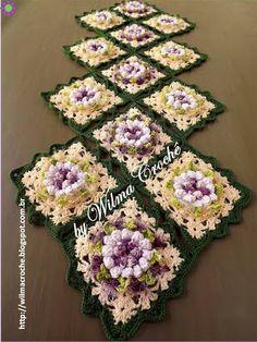 Wilma Crochê: Caminho de mesa