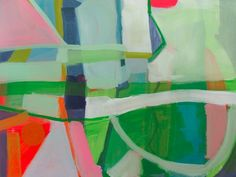 "I discovered the abstract paintings of Atlanta artist Sally King Benedict last month from a pin on interior designer Angie Hranowskey's ""Abstract"" board.  I love the bold and cheerful colors, shapes, and compositions. Many of these are already sold; I'm hoping she's at work on a new series. Nugget 1 –  –  – Texas Summer … … Continue reading →"